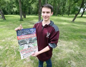 Holmen High School student Jordan Briskey has been working for the past year to plan a Vietnam Memorial for Veterans Freedom Park.  Erik Daily, La Crosse Tribune