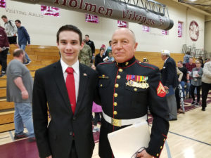 Jordan with Don Weber-Retired Marine