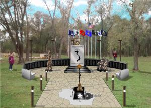 Artist Rendering of the WI Vietnam War Memorial